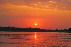 Schöne Farbe in der Sonnenuntergangzeit Stockbilder