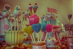 Schöne Farben und Zuckersüßigkeit Stockfotos