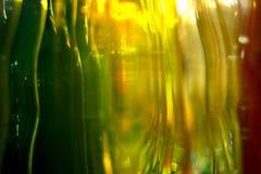 Schöne Farben von Glasflaschen stockfotografie