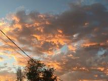 Schöne Farben von Sonnenuntergängen Lizenzfreies Stockbild