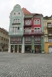 Schöne farbige Gebäude, Timisoara Stockbilder