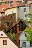 Schöne farbige Häuser auf dem Hügel in Zagreb, Cr Stockbilder