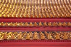 Schöne Farbmuster von Tempeldachplatten Lizenzfreie Stockfotos