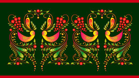 Schöne Farbvögel, lokalisiert auf einem gren Stockbilder