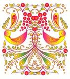 Schöne Farbvögel, lokalisiert auf einem Weiß Stockbild