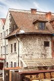 Schöne Fassade des historischen Gebäudes in Kazimierz Dolny polen stockfoto
