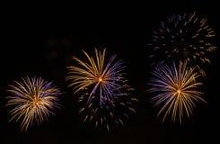 Schöne Feuerwerke lizenzfreie stockfotos