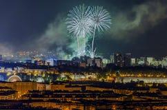 Schöne Feuerwerke Lizenzfreies Stockfoto