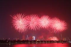 Schöne Feuerwerke Lizenzfreies Stockbild