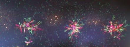 Schöne Feuerwerke Lizenzfreie Stockbilder