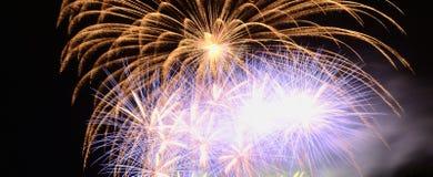 Schöne Feuerwerke feiern herein Tag 2016 Stockbild