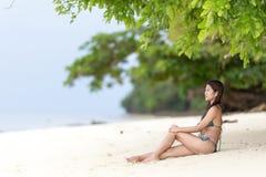 Schöne Filipinafrau an Stockbild
