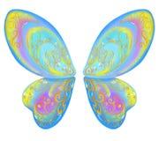 Schöne Flügel eines Schmetterlinges blau Lizenzfreie Stockfotografie