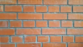 Schöne flache Wand des roten Backsteins, der Beschaffenheit oder des Hintergrundes, Nahaufnahme Lizenzfreie Stockfotografie