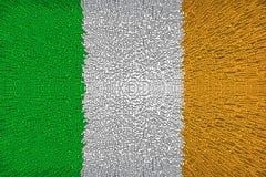 Schöne Flagge von Irland lizenzfreie abbildung