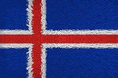 Schöne Flagge von Island lizenzfreie stockfotos