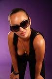 Schöne Frau in den Sonnenbrillen Lizenzfreies Stockfoto