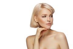 Schöne Frau des blonden Haares Lizenzfreie Stockfotos