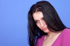 Schöne Frau durchdacht Lizenzfreie Stockbilder