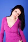 Schöne Frau durchdacht lizenzfreie stockfotografie