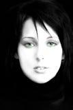 Schöne Frau, grüne Augen stockbilder