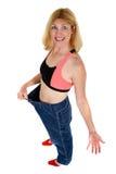Schöne Frau hat Gewicht 1 verloren stockfotos