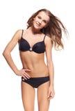Schöne Frau im Bikini Stockbilder