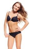 Schöne Frau im Bikini Stockbild