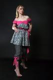 Schöne Frau im Kleid Lizenzfreie Stockbilder