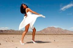 Schöne Frau im Kleid Lizenzfreies Stockbild