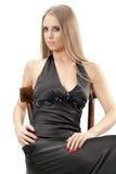 Schöne Frau mit Abendverfassung Lizenzfreies Stockfoto