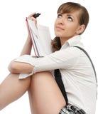 Schöne Frau mit Buch Lizenzfreies Stockbild