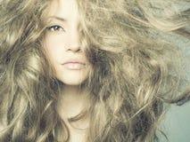 Schöne Frau mit dem ausgezeichneten Haar Stockbilder