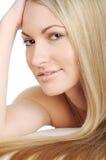 Schöne Frau mit den langen Haaren Stockbilder