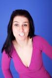 Schöne Frau mit Gummigummiband Lizenzfreie Stockbilder