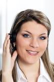 Schöne Frau mit Kopfhörer Lizenzfreie Stockbilder
