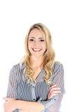 Schöne Frau mit leuchtendem Lächeln Stockfotografie