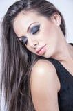 Schöne Frau mit Make-up Stockbild
