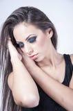 Schöne Frau mit Make-up Lizenzfreies Stockbild