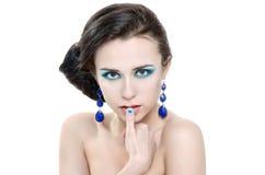 Mode-Nagel mit Herzen Stockfotos