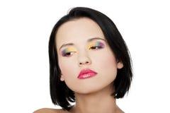 Schöne Frau mit Regenbogenauge bilden Lizenzfreie Stockbilder