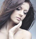 Schöne Frau mit vollkommener Haut Lizenzfreies Stockbild