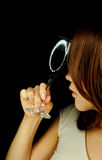 Schöne Frau mit Weinglas Lizenzfreies Stockfoto
