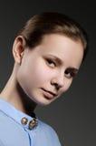 Schöne Frau Porträt der jungen Frau Stockfotos