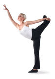 Schöne Frau tanzen Übungen Stockbild