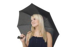 Schöne Frau unter Regenschirm Lizenzfreie Stockfotografie