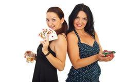 Schöne Frauen des Kasinos stockbild
