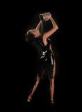 Schöne Frauen-strömender Lack ganz über ihrer Karosserie Stockbilder