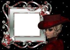 Schöne Frauen-Weihnachtseinklebebuch-Seite Lizenzfreies Stockbild
