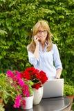 Schöne Frauenfunktion Lizenzfreies Stockfoto